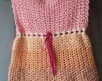 Lemony pink fizz dress