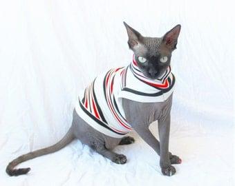 """Designer Cat Shirt """"Lighten up, Francis"""" Summerweight Cat Clothing"""