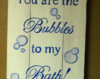 Bubbles to my Bath | reclaimed wood | bathroom wall hanging