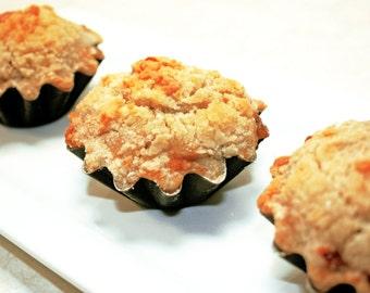 "French Crumb Mini Apple Pies - 1 dozen of 3"" mini pies"