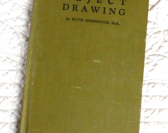 Drawing Book Object Drawing How to Draw Vintage 1929 Ruth Merington Hardcover Art