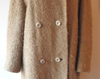 1960s Boucle Coat w/ Mink Collar