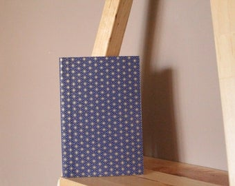 "Hand-bound book ""Tess - blue & gold"""