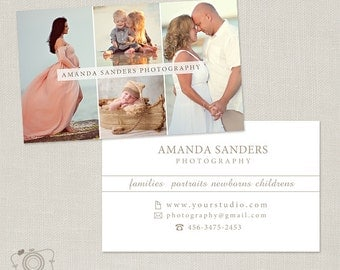 Photography Business Card Template for Photographers -007 - C301, INSTANT DOWNLOAD