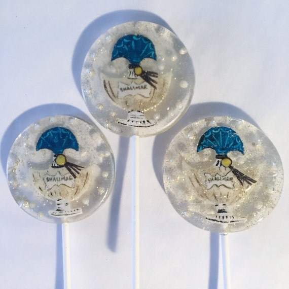 3 Shalimar Vanilla Bergamot Flavored Perfume Bottle Lollipops