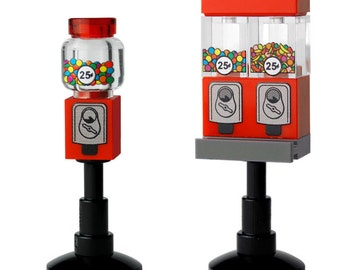 1 Gumball and 1 Candy Machine - Custom printed minifigure scale accessories