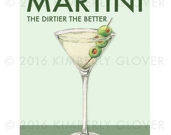 Dirty Martini  11x14