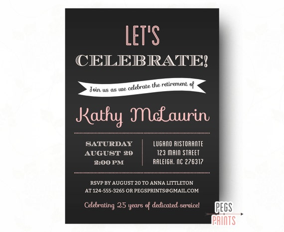 retirement party invitation // retirement party invites, Party invitations