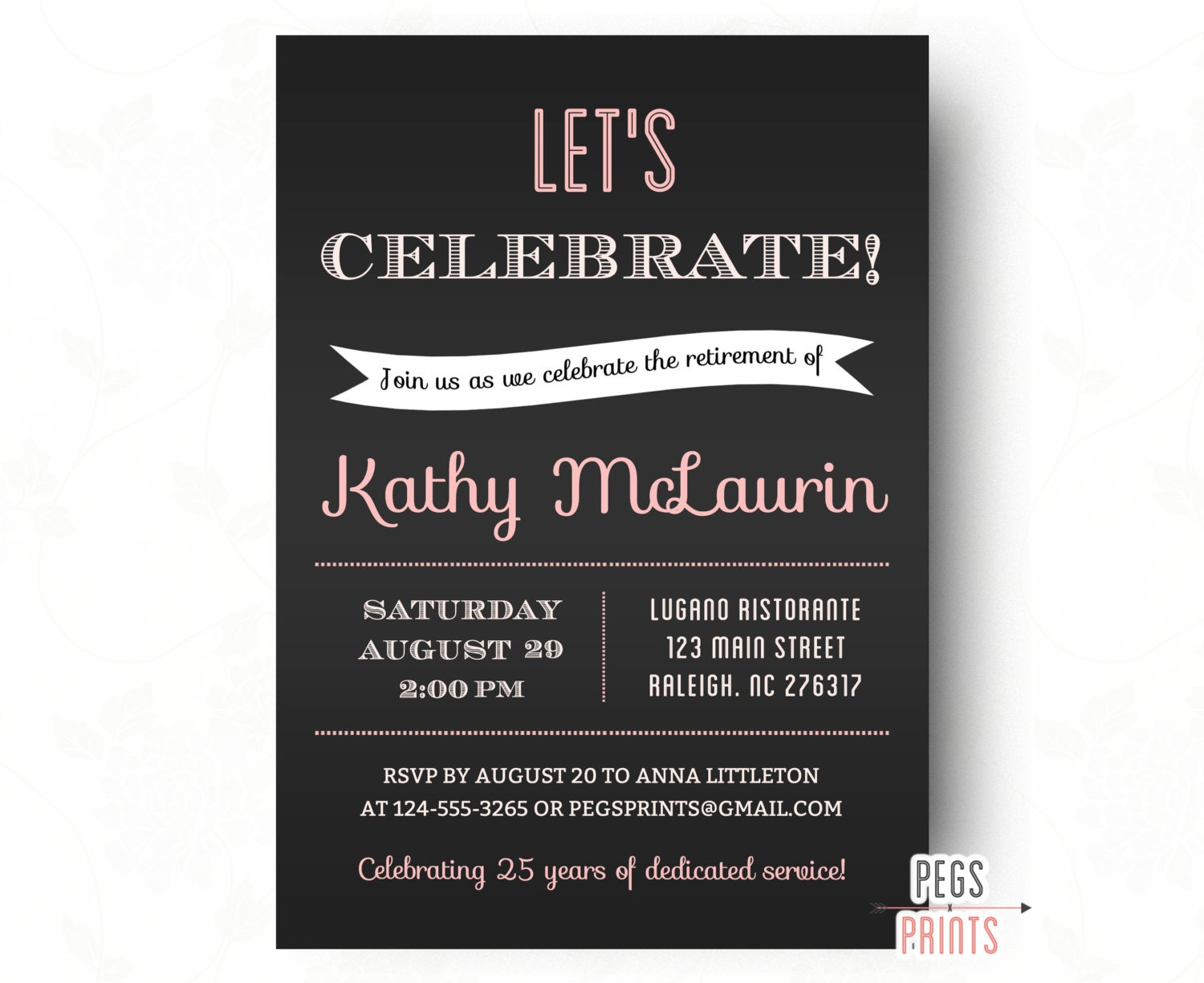 Retirement Party Invitation // Retirement Party Invites //