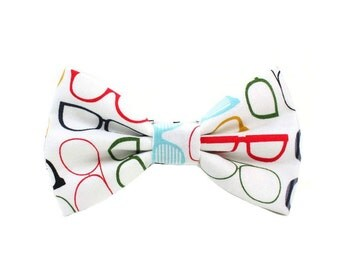 Geek Dog Bow Tie Cat Bow Tie Nerd Nerdy Dog Bowtie Funky Eye Glasses Dog Bow Tie