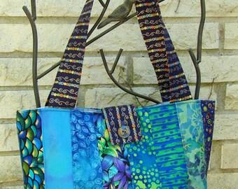 Strip Tote Bag - Blues