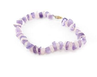 Vintage Purple Pink Stone Bracelet