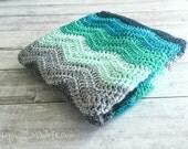 Custom Order For Meredith | Midnight Waves Crochet Blanket