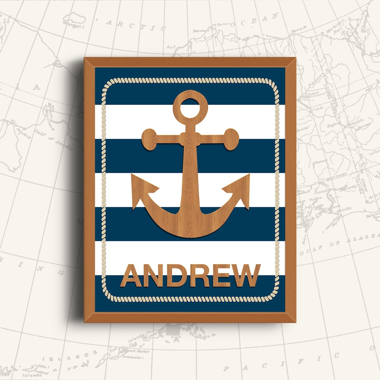 Nautical Nursery Print Nautical Nursery Wall Decor - cheap home decor for nautical nursery