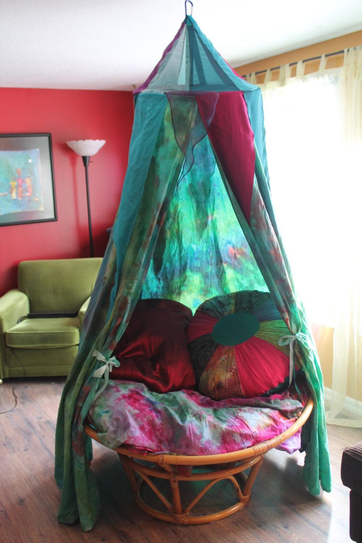 Canopy tent green galaxy dye for Galaxy sheer fabric