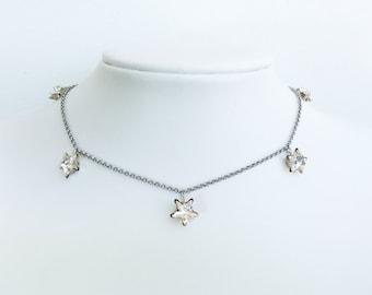 Dainty Charm Pendant  - Silver - Charm Pendant - Choker set
