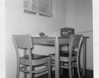 Vintage Photo..The Dining Room Table 1950's, Original Photo, Old Photo Snapshot Vernacular Photography, American Social History Photo