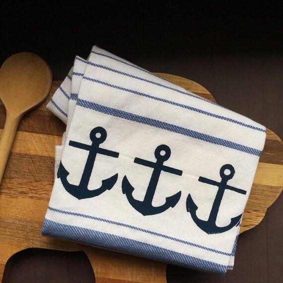 Dish Towel Sale: Sale Nautical Kitchen Dish Towel. Blue Navy & By
