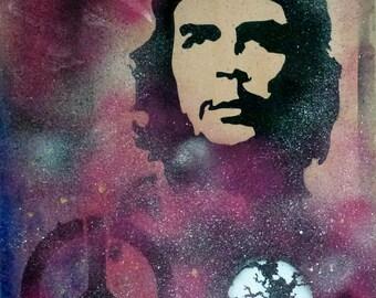 Che Guevara, print, card, painted by Karmen