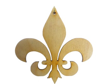 FLEUR DE LIS Ornament - Fleur De Lis Ornaments - Fleur De Lis Gifts - Fleur De Lis Art - Fleur De Lis Decor - Personalized Free