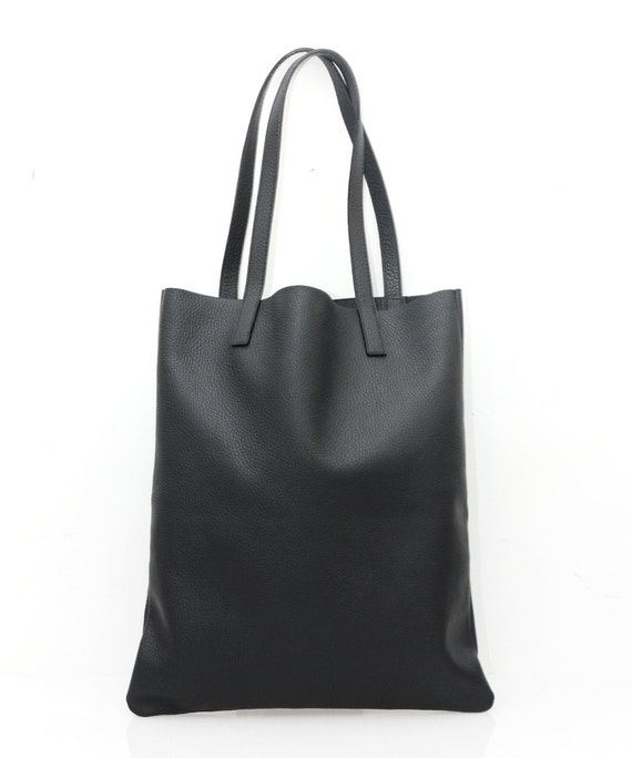95ae9528d3ae ANYA Basic Black Leather Tote Bag by MISHKAbags on Etsy