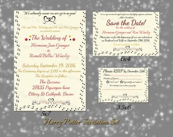 Harry Potter Marauderu0027s Map Wedding Invitations, Save The Date And RSVP  Card Kit