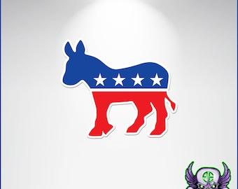 Democrat Decal, Democrat Donkey Decal, Democrat Sticker, Democrat Donkey Sticker