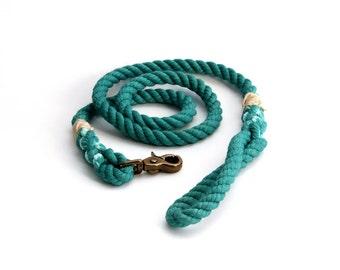 4 FT Teal Rope Dog Leash