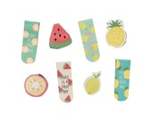 Fruit Series Magnetic Page Markers // Magnet Bookmarks