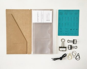 Basic Beginner's Kit for Midori Travelers Notebook // Starter Kit