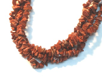 "2 Strands Goldstone Chips 36"" Long"