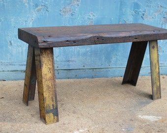 Reclaimed Wood Bench, Entryway Bench, Industrial Bench, Rustic Bench