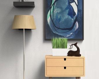 Modern Art Print. Modern Art Print in Blue. Colorful Modern Art Print by Adri Luna