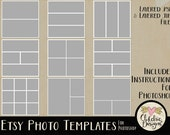 Etsy Photo Templates - Multiple Photo Templates - Storyboard Photo Templates - Photography Templates
