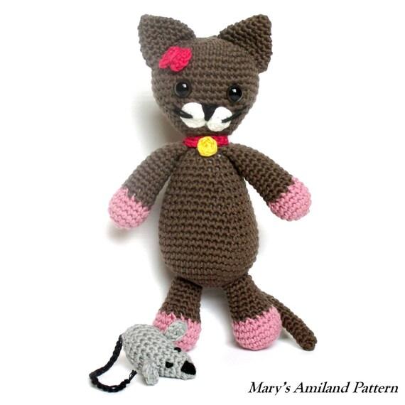 Ravelry Amigurumi Cat : Minou Cat The Ami Amigurumi Crochet Pattern Digital