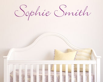Script Personalised - Wall sticker - Name - Personal - Wall decals - Home Decor-Personalised Name Sticker-Nursery Decor-Kid's Room Decor