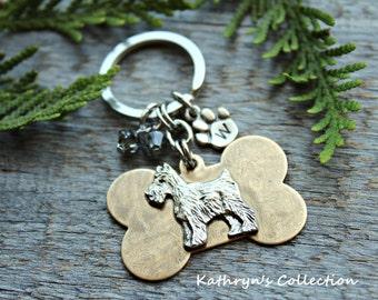 Schnauzer Key Chain, Schnauzer Gift, Schnauzer Lover, Dog lover Gift, Dog Breed Key Chain