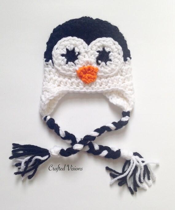 Pattern Crochet Penguin Hat All Sizes Newborn To Adult Penguin