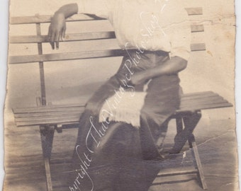 The Quiet One - Vintage Photograph, RPPC Attractive African American  Woman