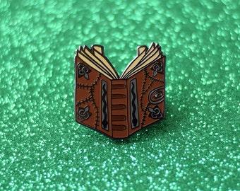 Hocus Pocus Spell Book Enamel Pin, Halloween Lapel Pin, 90's Nostalgia
