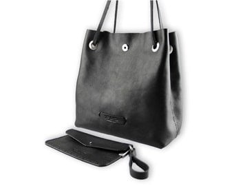 Posh bucket bag #toxleather | Black leather bucket | Handmade shoulder | Crossbody bag