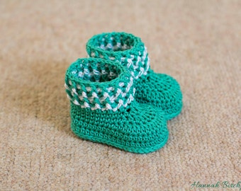 Cotton Crochet Booties