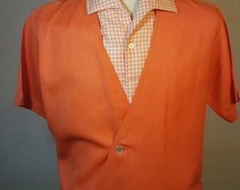FREE  SHIPPING   1950 Men Linen Shirt