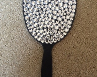 Customizable Rhinestone Hand Mirror