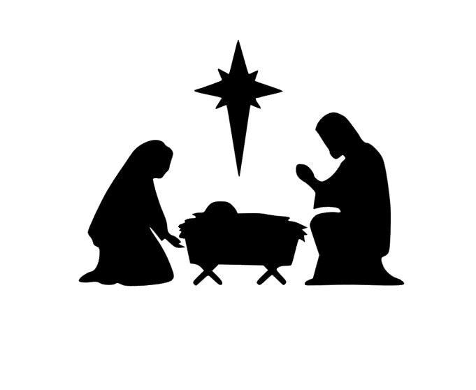 Nativity Manger Scene Vinyl Christmas Decoration Vinyl