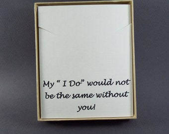 Bridesmaid Gift - Bridesmaid Necklace - Gift Box - Jewelry Gift Box - Necklace Gift Box - Message Jewelry Gift Box - Message Necklace Box