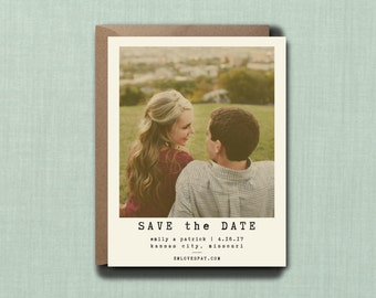 Modern Minimalistic Photo Wedding Save the Date // 4.25x5.5 Magnet // DOWN PAYMENT // Rustic Wedding, Modern Wedding, Photo Save the Date