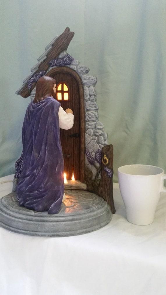 Hand Painted Ceramic Jesus Knocking At Door