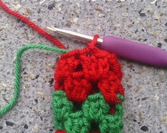 CROCHET TUTORIAL - How to Carry Up Yarn in the Round the EyeLoveKnots Way - Photo Tutorial, Crochet Technique, Crochet 101, Instant Download