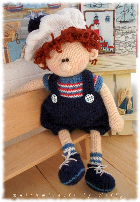 Knitting Pattern Boy Doll : Toy Knitting Pattern / knitted doll / Knitting pattern boy
